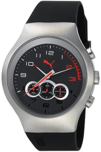 Puma Red Zone Chronograph Black Dial Mens Watch Pu102791001