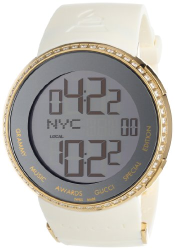 Gucci Men's YA114218 I-Gucci Diamond Digital GRAMMY Special Edition White Watch