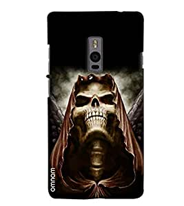 Omnam Skelton Lauging With Big Teeths Printed Designer Back Cover Case For OnePlus Two