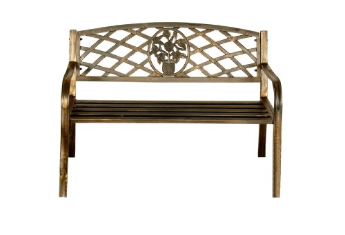 Greenhurst 4313 Garden Bench With Cast Iron Insert