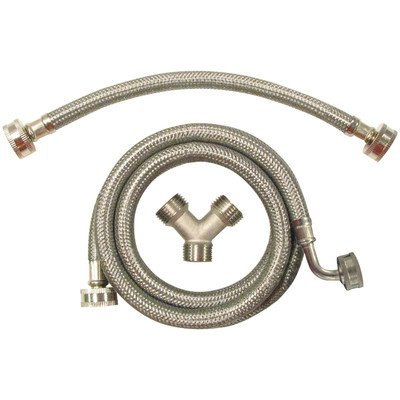 CERTIFIED APPLIANCE STMKIT2 Braided Steam Dryer Installation Kit, Stainless Steel