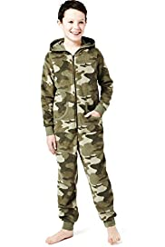 Hooded Camouflage All-in-One
