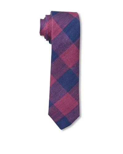 Gitman Men's Multi Check Tie, Red