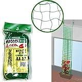 軒までとどく花すだれ プランター用 グリーン0.6m×2.7m 5枚セット[緑のカーテンに!] / 園芸ネット