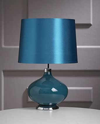 new juno teal bedside lounge home office table lamp with. Black Bedroom Furniture Sets. Home Design Ideas