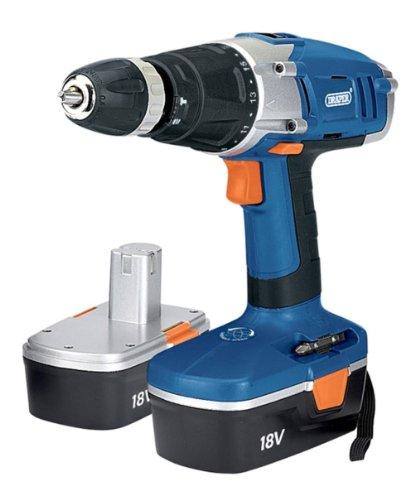 Draper 40765 18-Volt 2-Speed Cordless Hammer Drill