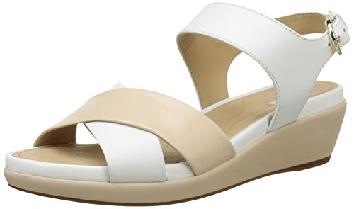 GeoxD Abbie D - Sandali Donna , Bianco (Blanc (C1391)), 37