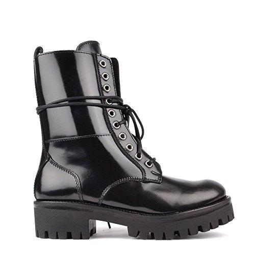 Mally Boots Cuoio, Donna 38 EU Nero
