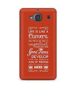 AMEZ life is like a camera Back Cover For Xiaomi Redmi 2S
