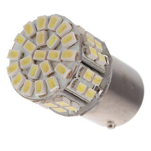 2Pcs 1156 Ba15S Cool White 50 Smd Led Backup Reverse Tail Light Lamp Bulb Dc 12V