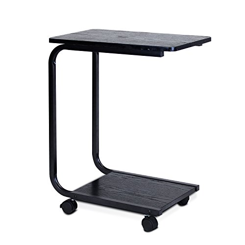 Furinno FNBJ-22032-1 B&W U-Shaped Side Table, Black U-Shaped Assembly