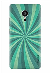 Noise Blue Swirl Printed Cover for Meizu Mx5 Pro