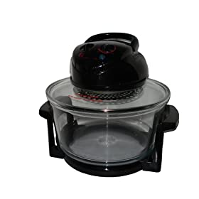 EWave Turbo Glass Bowl Convection Oven Black EWGCO1B