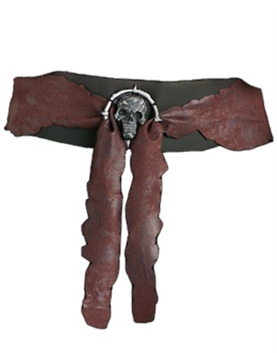 Adults Pirate Costume Accessory Suede Belt with Buckle