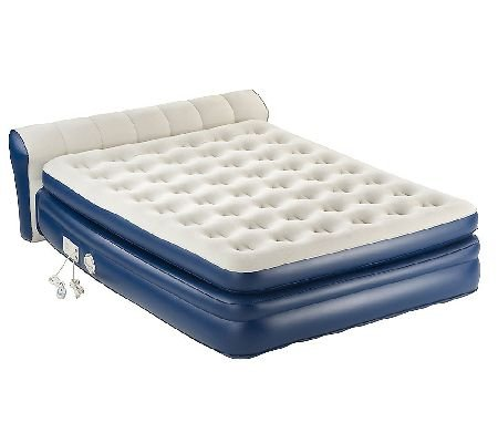 Aerobed Elevated Headboard Air Bed With Built-In Pump Size: Twin