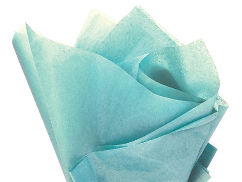 "Aqua Blue Tissue Paper - 15""X20"" - Bulk 100 Sheets back-694215"
