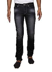John Wills Men's Slim Fit Jeans (MCR1002--40, Black, 40)