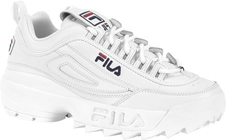 Fila Men's Disruptor II Sneaker,White/Peacoat/Vinred,10 M