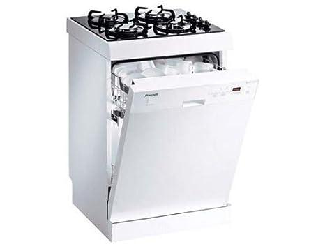 Brandt DKH 810 Cominé Lave Vaisselle et Plaques de cuisson Gaz Pose Libre 60 cm 12 couverts 47 dB Classe A Blanc