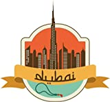"Dubai United Arab Emirates World City Travel Label Badge Car Bumper Sticker Decal 5"" x 5"""