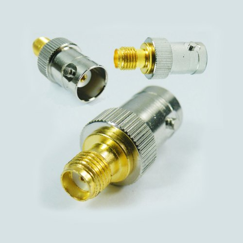 SMA-F to BNC-F RF Antenna Adapter Kenwood Cable Yaesu (Motorola Antenna Plug compare prices)