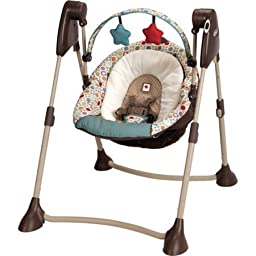 Graco Swing By Me Portable Swing, Twister with Multiple Motion Swing Speeds for Baby\'s Different Moods