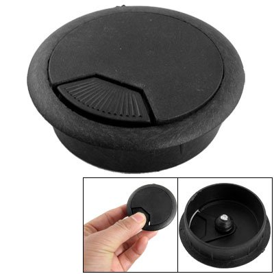 chaapast cooling climata control computer desk table grommet cable wire hole cover black. Black Bedroom Furniture Sets. Home Design Ideas