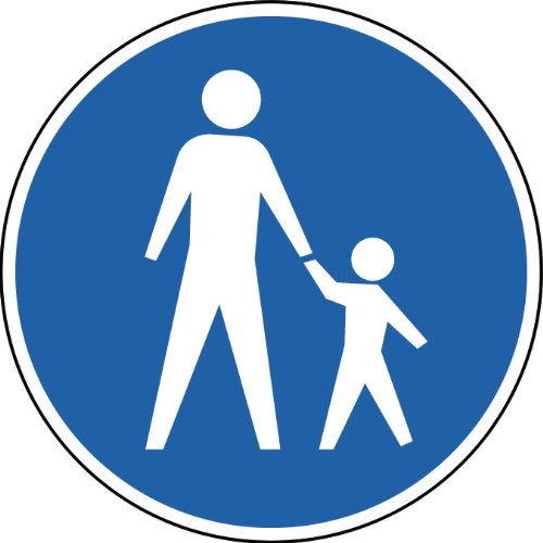Street & Traffic Sign Wall Decals - Pedestrian Crossing Sign - 36 Inch Removable Graphic front-940376