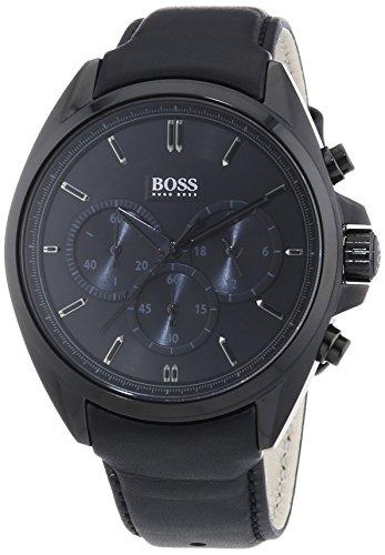 Hugo Boss 1513061 - Orologio da polso uomo, pelle, colore: nero