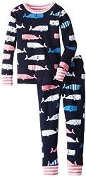 Hatley Big Girls'  Girl Whales Pajama Set