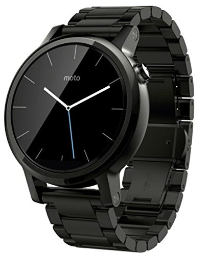 Motorola Moto 360 2nd Gen Smartwatch for Most Apple iOS and Android Cell Phones (Men's, 42mm, Black w/Black Metal)