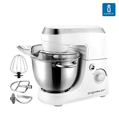 Aigostar-Piccolo-Mamma-White-100HLV-Robot-de-cocina-Mezcladora-Amasadora-Batidora-Color-blanco-Libre-de-BPA