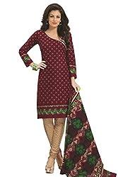 Gugaliya Women's 100 % Cotton UNSTICHED Salwar, Kameez & Dupatta Suit (SJ- 3115)