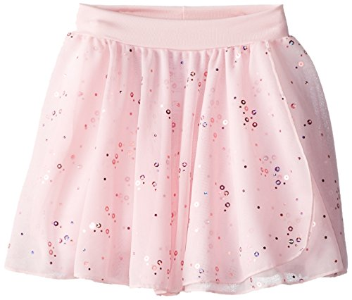 Capezio Little Girls' Pull-On Sequined Skirt, Pink, T (2-4) front-225996