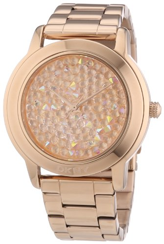 DKNY Damen-Armbanduhr XL Analog Quarz Edelstahl beschichtet NY8475