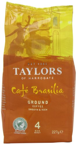 Taylors of Harrogate Caf Brasilia Rich Roast Ground Coffee 227 g (Pack of 3)