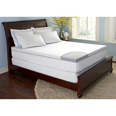 "forZen GelFuse Gel Memory Foam 2 5"" Mattress Topper"
