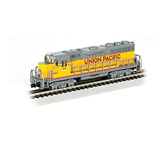 Bachmann Industries EMD GP40 Locomotive with Operating Directional Headlights - Union Pacific N Scale