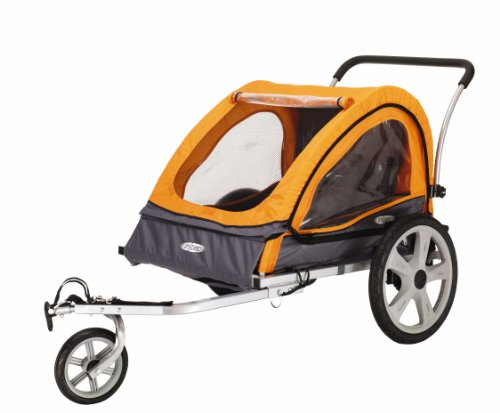 Pacific Cycle InStep Quick N EZ Double Bicycle Trailer,Orange/Gray (Cycle For Baby compare prices)