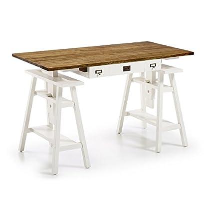 Mesa de Arquitecto madera color blanco