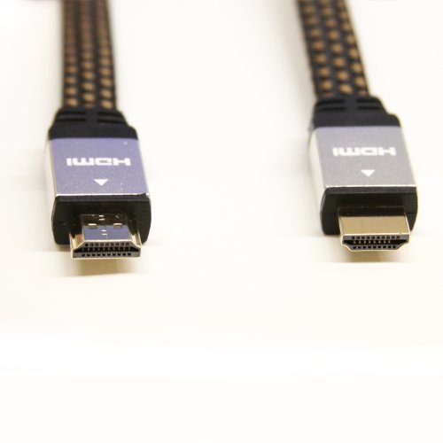 Lb1 High Performance New Hdmi Cable For Samsung Un65H7150 65-Inch 1080P 240Hz 3D Smart Led Tv High Speed Type A Flat Hdmi Cable 24K Gold Plated Connector 30 Awg 10Ft