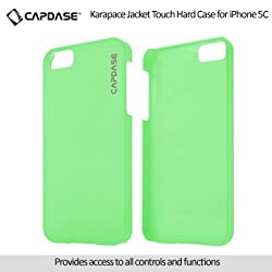 Capdase Karapace Jacket Touch Hard Back Case for Apple iPhone 5C - Green (KPIHM-T106)