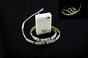 Suntec 4 5v battery operated led strip light waterproof for Led craft lights battery