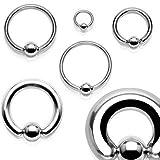 [ラプラス]laplace ボディピアス body-piercing キャプティブ ビーズリング 【 高品質 ボディーピアス 専門店 】 18G (8mm)