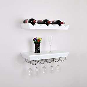 welland white wine rack floating wall shelf. Black Bedroom Furniture Sets. Home Design Ideas