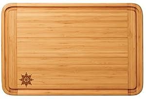 Totally Bamboo Malibu Groove Cutting Board with Snowflake Design