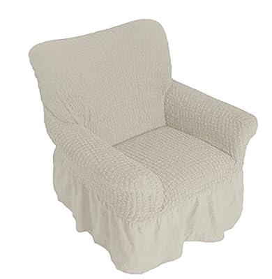 Qooltex Sofahusse 100% Baumwolle Bezug Dehnbar Husse Sofabezug Sofaüberwurf Sesselbezug 1er