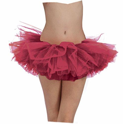 Burgundy Adult Tutu Ballerina Ballet Pettiskirt Elastic Costume