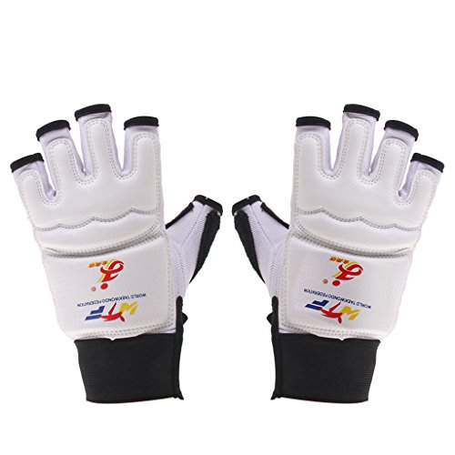 Eva Pad Taekwondo Handschutz Handschuhe Karate Sparring Box Trainingsgeraete Weissen M