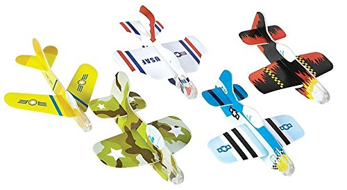Foam Glider Plane Toy Set - 5 Inch, Assorted Pack of 72 - For Parties, Kids, Decoration, Gifts, Outdoors, and Other Events - Kidsco (Jetblue Model Plane compare prices)